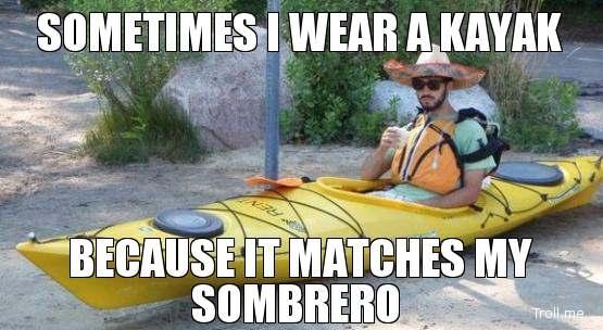 Afbeeldingsresultaat voor funny meme kayaking