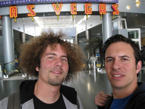 Met een vriend in Las Vegas