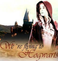We're flying to Hogwarts.