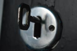 Foto bij De zwarte deur