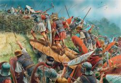 Foto bij De romeinse aanval